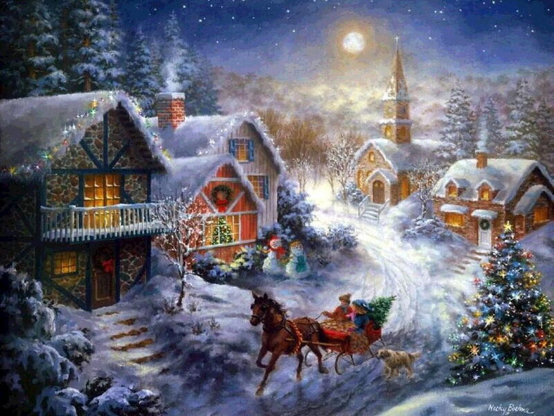 Images fonds d ecrans noel for Fond ecran gratuit hiver noel